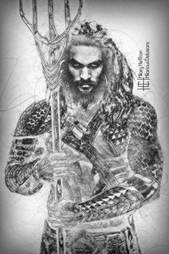 Aquaman Sketch WM