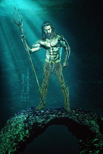 Aquaman Underwater WM